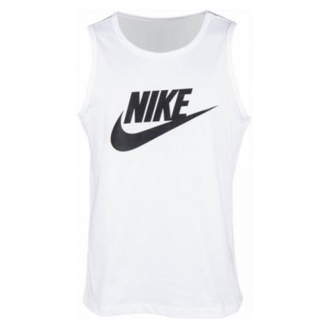 Nike NSW TANK ICON FUTURA weiß - Herren Muskelshirt