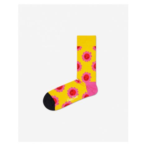 Happy Socks Smile Flower Socken Gelb