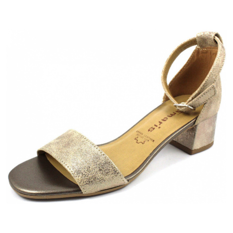 Damen Tamaris Klassische Sandalen metallic