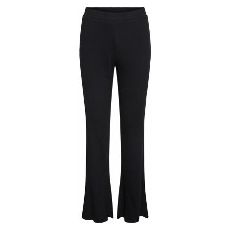 Noisy May Damen Hose Nmpasa Hw Flared Pants - Flare Fit - Schwarz - Black