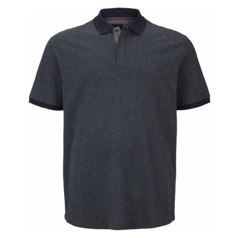 TOM TAILOR Herren Poloshirt mit Birdseye-Muster, blau