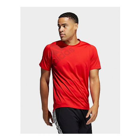 Adidas FreeLift Badge of Sport Graphic T-Shirt - Vivid Red - Herren, Vivid Red