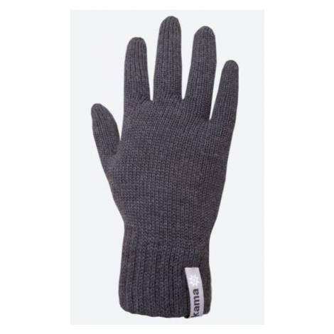 Gestrickte Merino Handschuhe Kama R102 111 dark  grey