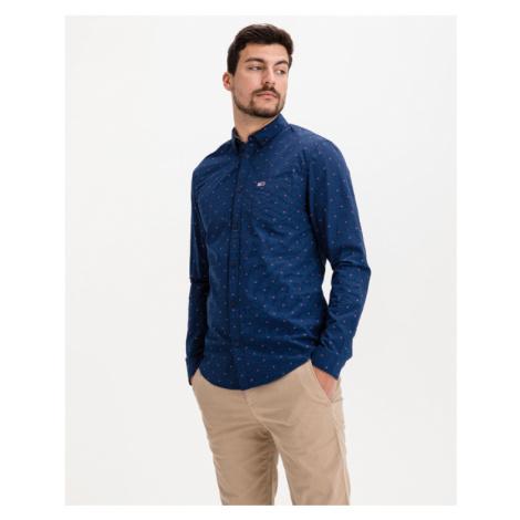 Tommy Jeans Dobby Hemd Blau Tommy Hilfiger