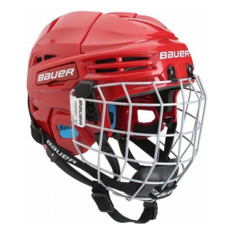 Bauer PRODIGY COMBO YTH rot - Eishockey Helm für Kinder mit Gitter