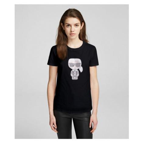 K/Ikonik T-Shirt mit Strasssteinen Karl Lagerfeld
