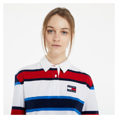 Tommy Jeans Striped Rugby Polo Long Sleeve TEE White Tommy Hilfiger