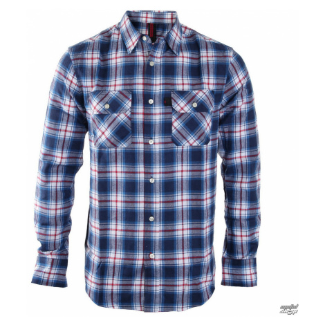 Herren Langarmhemd INDEPENDENT - Faction Blue Check - INALTE-001 F16 BLAU CHECK XL