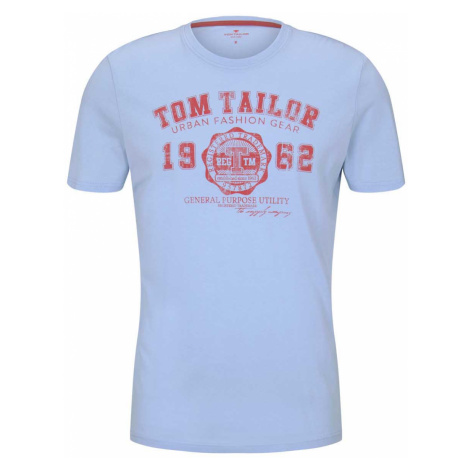 TOM TAILOR Herren T-Shirt mit Logo-Print, blau