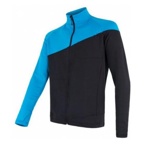 Herren Sweatshirt Sensor Tecnostretch schwarz/blau 17200075