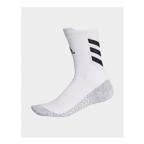 Adidas Alphaskin Traxion Crew Socken - White / Black / Black - Herren, White / Black / Black