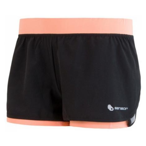 Damen Lauf Shorts Sensor TRAIL schwarz / aprikose 17100108