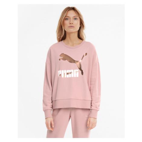 Rosa sportsweatshirts über kopf für damen
