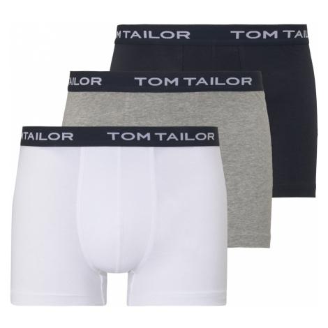 TOM TAILOR Herren Hip-Pants im 3er-Pack, weiß, unifarben