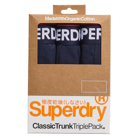 Superdry Boxershorts Dreierpack CLASSIC TRUNK TRIPLE Richest Navy Dunkelblau