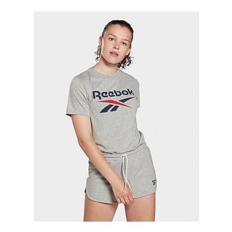 Reebok reebok identity logo t-shirt - Medium Grey Heather - Damen, Medium Grey Heather