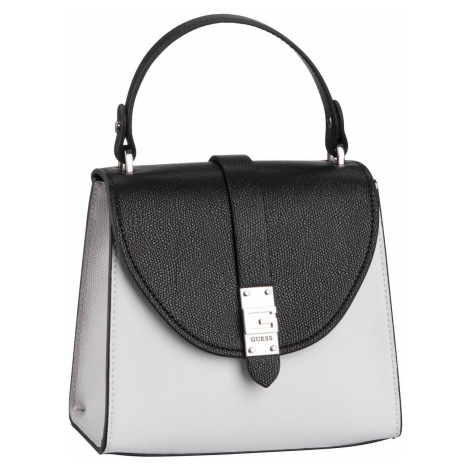 Guess Handtasche Nerea Top Handle Flap White Multi (3.2 Liter)