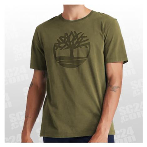Timberland SS K-R Brand Tree Tee grün/schwarz Größe S