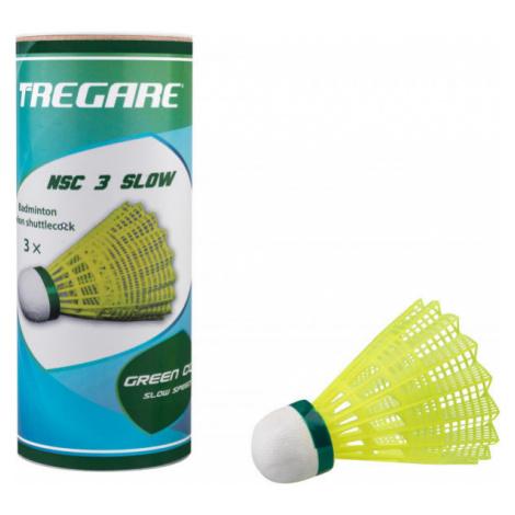 Tregare NSC 3 SLOW YELLOW - Badminton-Federbälle