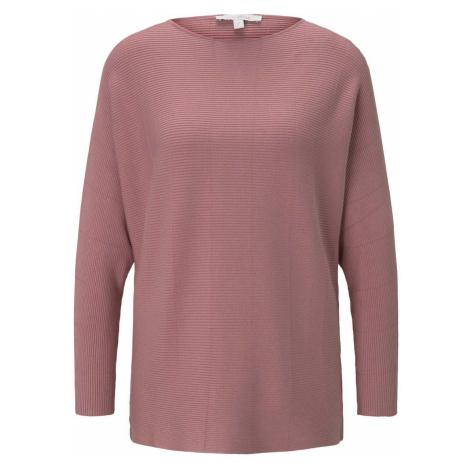 TOM TAILOR DENIM Damen Pullover mit Fledermausärmeln, rosa