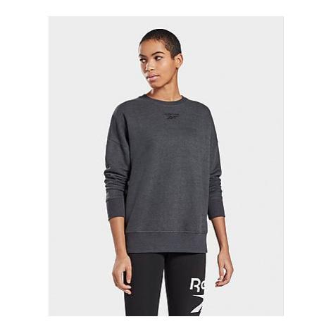 Reebok textured crew sweatshirt - Black - Damen, Black