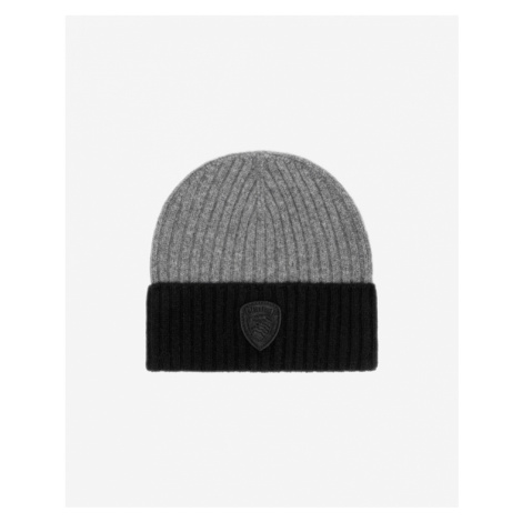 Blauer Mütze Grau