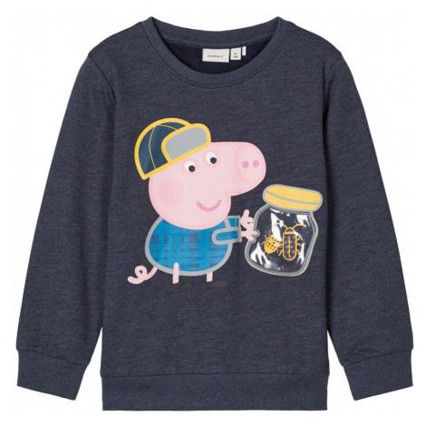 NAME IT Schorsch Pig Sweatshirt Herren Blau