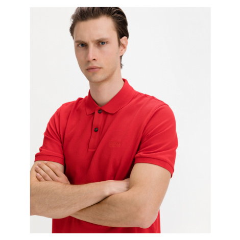 BOSS Pallas Polo T-Shirt Rot Hugo Boss