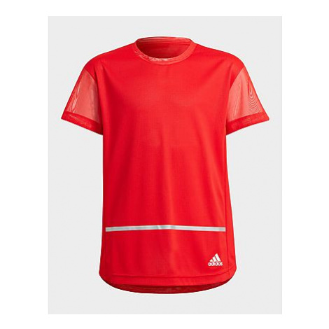 Adidas HEAT.RDY Primegreen T-Shirt, Vivid Red / White