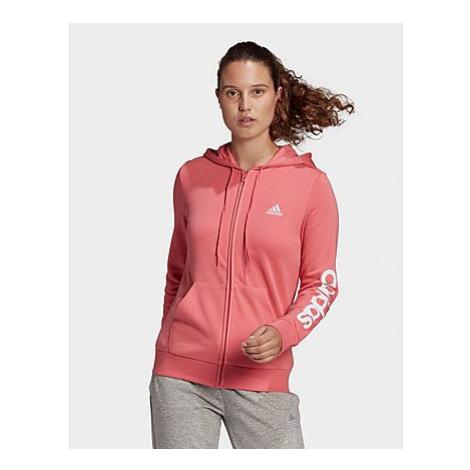 Adidas Essentials Logo Kapuzenjacke - Hazy Rose / White - Damen, Hazy Rose / White