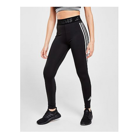 Adidas Techfit 3-Streifen Lange Tight - Black / White - Damen, Black / White