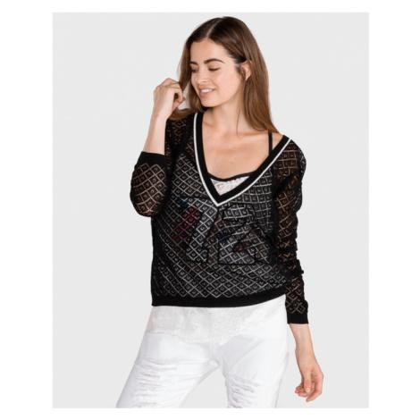 TWINSET Pullover Schwarz Weiß