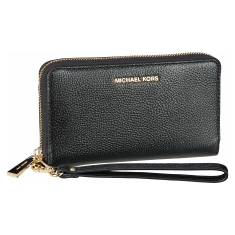 Michael Kors Handtasche Jet Set Large Flat MF Phone Case Saffiano Black (0.5 Liter)