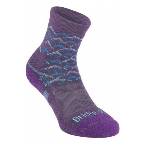 Socken Bridgedale Hike Lightweight Merino Performance Ankle Women's purple aqua/125