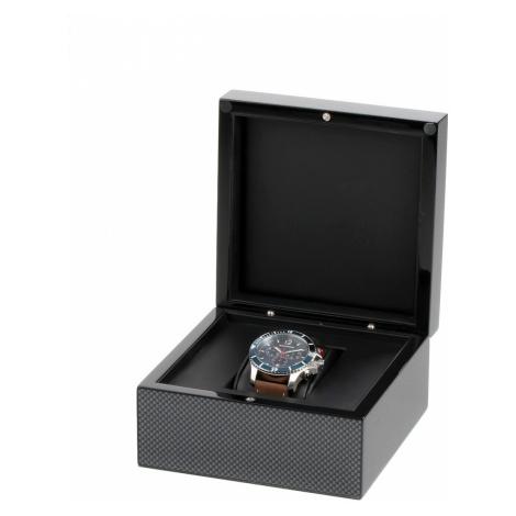 Exklusive Uhren-Geschenkbox aus Holz RS-2000-1BK für eine Uhr schwarz Rothenschild
