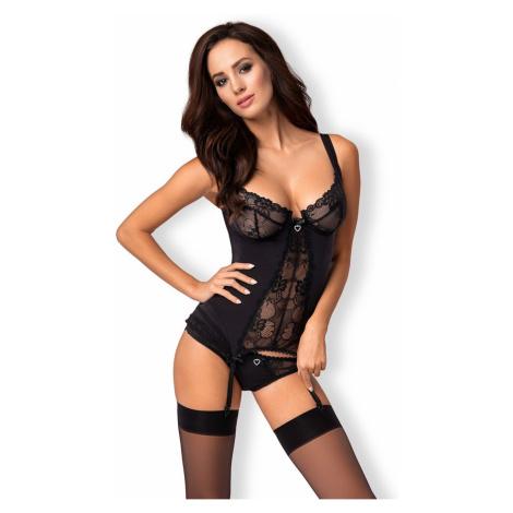 Erotische Korsetts für Damen Heartina corset black Obsessive