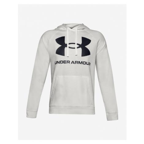 Under Armour Rival Fleece Big Logo Sweatshirt Grau