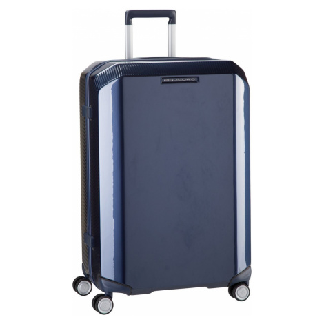 Piquadro Trolley + Koffer Cubica 4427 Blu (70 Liter)