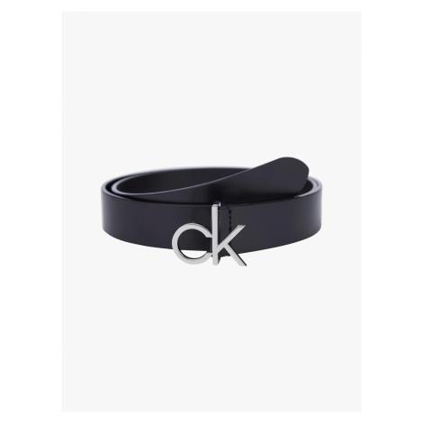 Calvin Klein Gürtel Damen Logo Belt 3.0 cm Schwarz Länge 85 cm