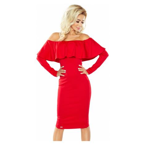 Damen Kleider 156-2 red NUMOCO