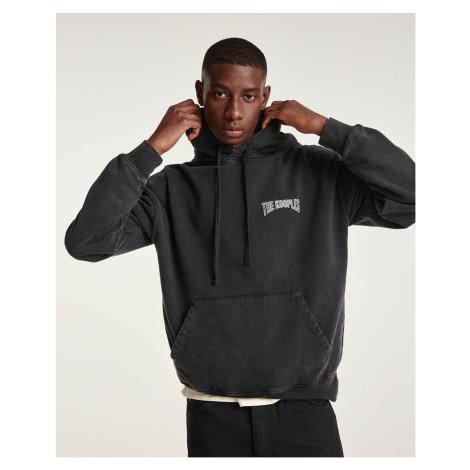 The Kooples - Kapuzensweatshirt schwarz Baumwolle Logoprint - DAMEN