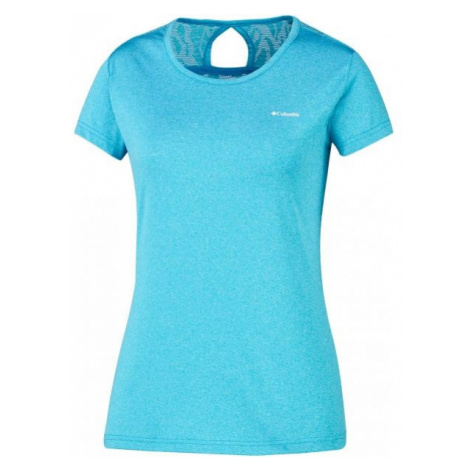 Columbia PEAK TO POINT NOVELTY SS SHIRT blau - Damen Sport Trikot