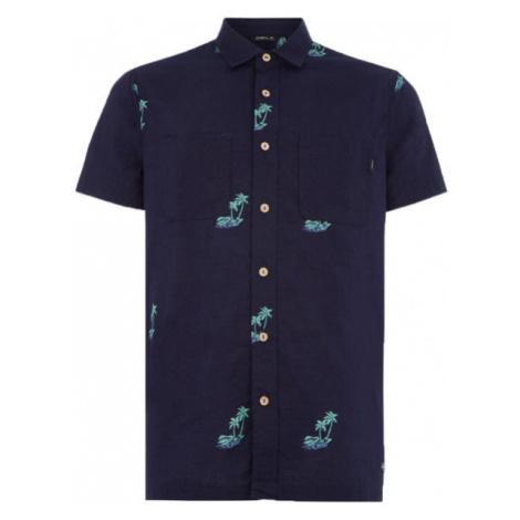 O'Neill LM PALM AOP S/SLV SHIRT dunkelblau - Herren Hemd