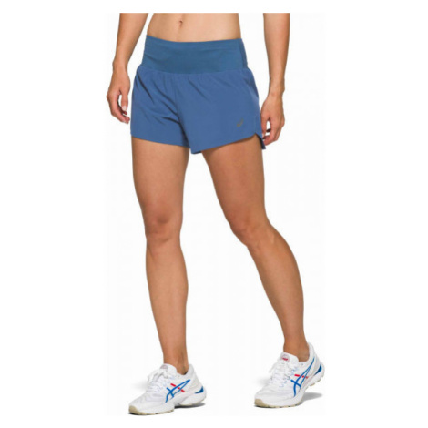 Asics ROAD 3.5IN SHORT blau - Damen Laufshorts
