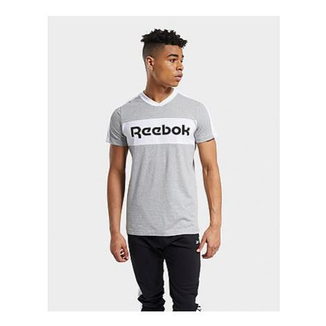 Reebok training essentials linear logo graphic t-shirt - Medium Grey Heather - Herren, Medium Gr