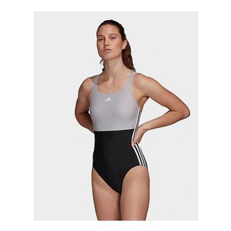 Adidas SH3.RO 3-Streifen Colorblock Badeanzug - Black / Glory Grey - Damen, Black / Glory Grey