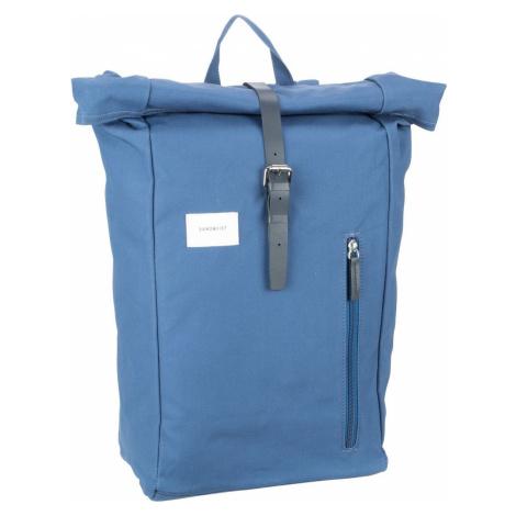 Sandqvist Laptoprucksack Dante Backpack Blue/Blue Leather (18 Liter)