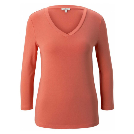 TOM TAILOR Damen Shirt mit 3/4 Arm, rosa