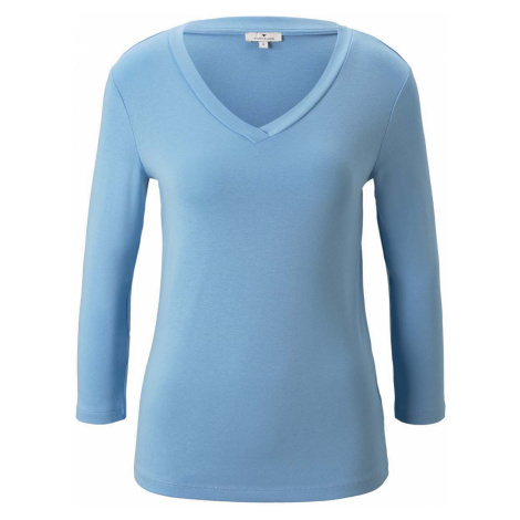 TOM TAILOR Damen Shirt mit 3/4 Arm, blau