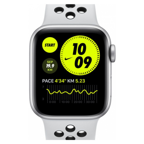 Apple Watch Nike Series 6 (GPS) mit Nike Sportarmband 40-mm-Aluminiumgehäuse in Silber - Grau